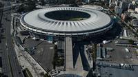 Tampak dari kejauhan Maracana Stadium sebagai veneu Olimpiade 2016 Rio de janeiro mendatang, Selasa (21/04/2015). Sumber : AFP
