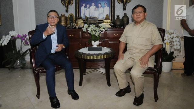 Jelang Pilkada Serentak 2018, Prabowo Subianto Temui Zulkifli Hasan