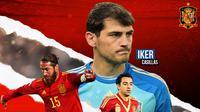 GOAT of Spain: Casillas, Xavi, Andres Iniesta, Sergio Ramos (Bola.com/Adreanus Titus)