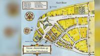 Nieuw Amsterdam atau Manhattan ditukar dengan Pulau Run (www.oocities.org)