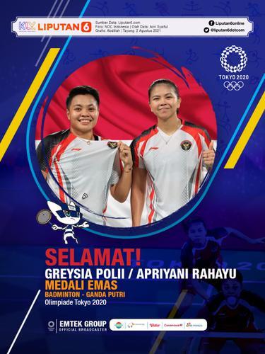 Infografis Greysia Polii / Apriyani Rahayu Raih Medali Emas Olimpiade Tokyo 2020. (Liputan6.com/Abdillah)
