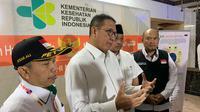 Menteri Agama (Menag) Lukman Hakim Saifuddin beserta rombongan melakukan visitasi ke Klinik Kesehatan Haji Indonesia (KKHI) di kawasan Aziziyah, Makkah. Bahauddin/MCH