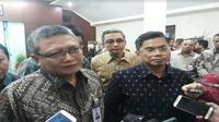 Penandatanganan kerja sama Askrindo dan Garuda Indonesia pada Kamis 2 Agustus 2018 (Foto:Merdeka.com/Dwi Aditya P)