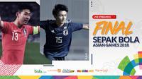 Final sepak bola putra Asian Games 2018, Korea Selatan vs Jepang. (Bola.com/Dody Iryawan)
