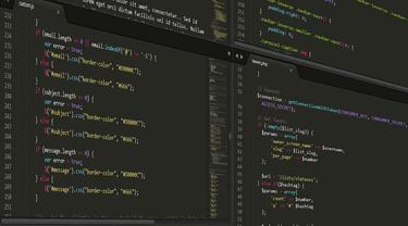 Ilustrasi developer, full stack developer, programmer.