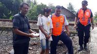 IR (17) berhasil ditangkap setelah Berulangkali melempar kereta yang melintas di Bantarsari, Cilacap. (Liputan6.com/PT KAI Daop 5 PWT/Muhamad Ridlo)