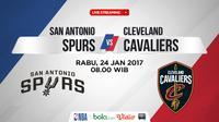 Jadwal NBA, San Antonio Spurs Vs Cleveland Cavaliers. (Bola.com/Dody Iryawan)