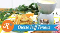 Sajikan menu snack unik yang disukai keluarga di akhir pekan. Cheese puff fondue bisa menjadi pilihan yang dapat Anda coba bersama keluarga.