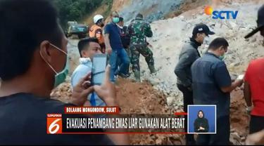 Keluarga korban longsor tambang emas ilegal di Bolaang Mongondow, Sulut, dilarang berada di kawasan pencarian untuk memudahkan proses evakuasi.
