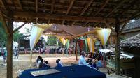Suasana salah satu acara pernikahan di Kabupaten Bangkalan, Jawa Timur. (Liputan.com/Musthofa Aldo)