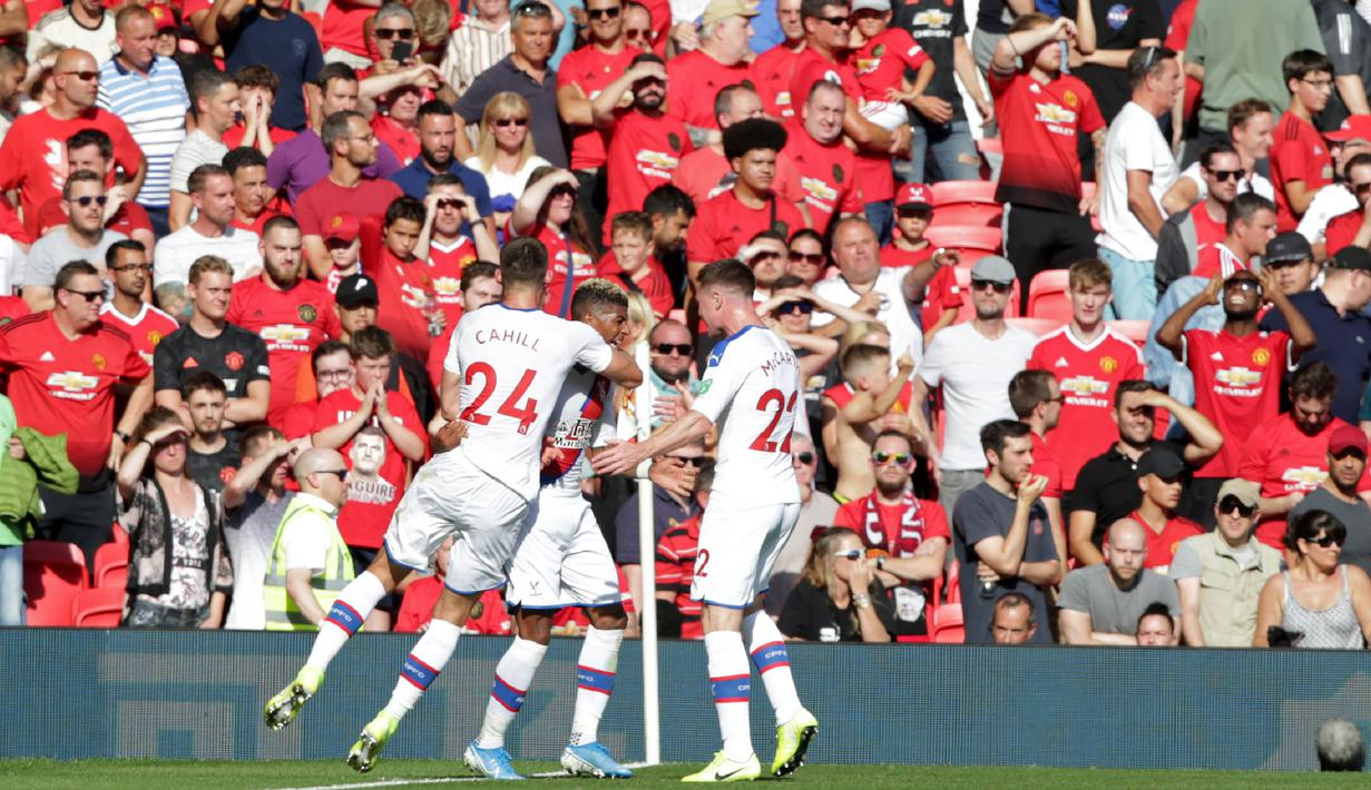 FOTO Bermain Di Old Trafford Crystal Palace Kalahkan