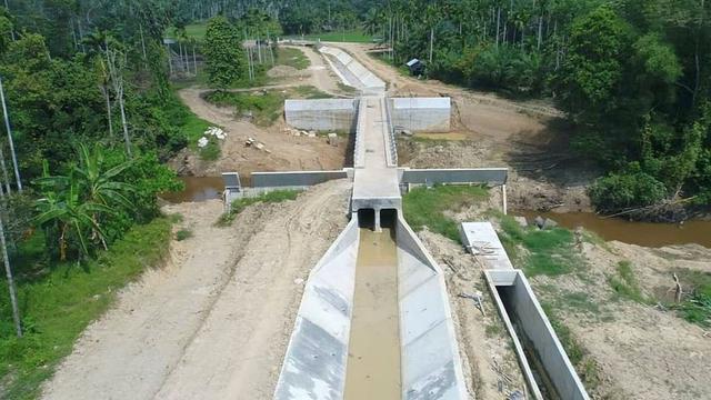 Kementerian PUPR telah menuntaskan 2 Proyek Strategis Nasional (PSN) Irigasi, yakni Daerah Irigasi (DI) Umpu Sistem di Lampung, serta DI Leuwigoong di Kabupaten Garut, Jawa Barat. (Dok Kementeruan PUPR)