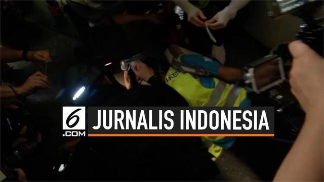 Wartawan asal Indonesia dari media Suara Hong Kong tertembak peluru karet. Insiden itu terjadi saat jurnalis bernama bernama Veby Mega Indah meliput unjuk rasa di wilayah Wan Chai, Hong Kong.