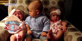 Bayi Ini Bingung Lihat Bayi Kembar
