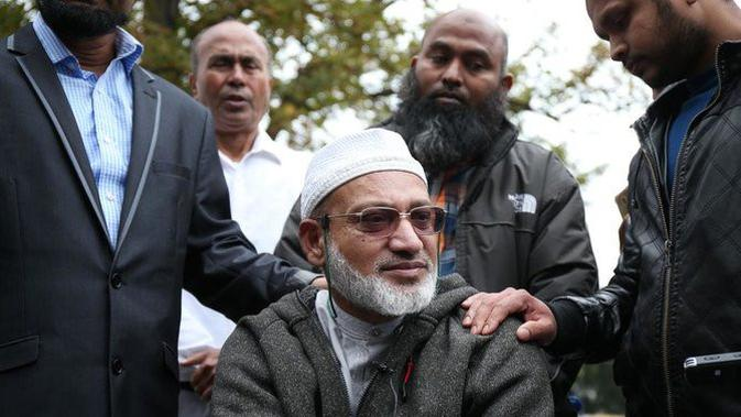 Farid Ahmed, suami dari korban penembakan di Masjid Al Noor Selandia Baru yang mengatakan telah memaafkan pelaku. (AFP Photo)