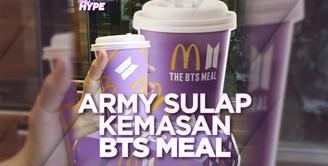 ARMY Sulap Kemasan BTS Meal Jadi Merchandise Keren