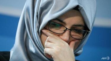 Hatice Cengiz, tunangan Jamal Khashoggi.