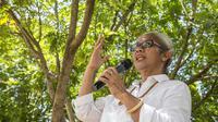 Calon Wakil Gubernur (Cawagub) Nusa Tenggara Timur (NTT) nomor urut 2, Emelia Julia Nomleni siap memaparkan visi dan misi yang pernah dibahasnya bersama Cagub Marianus Sae.