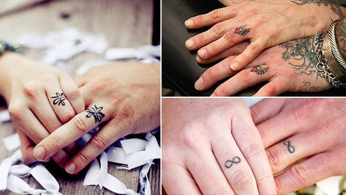 10 Cincin Kawin Romantis Dengan Metode Tato Fashion Fimela Com