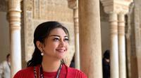 Bella Saphira mengunjungi Istana Alhambra di Granada, Spanyol (Dok.Instagram/@bellasaphiraofficial/https://www.instagram.com/p/BwwVfojHXbm/Komarudin)