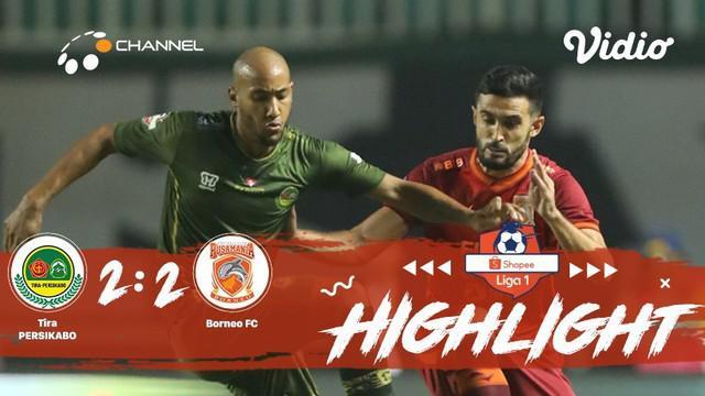 Pertandingan #ShopeeLiga1, antara #TiraPersikabo VS #Borneo yang berlangsung di Stadion Pakansari Bogor, Jawa Barat pada hari Ming...