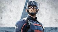 Wyatt Russell memerankan John Walker alias Captain America baru di serial The Falcon and The Winter Soldier. (Marvel Studios/Disney+)