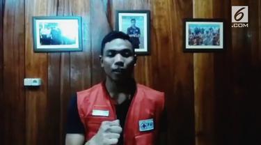 Lalu Muhammad Zohri, bergabung menjadi relawan Palang Merah Indonesia, (PMI) guna membantu korban gempa bumi di Lombok, Nusa Tenggara Barat.