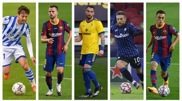 kolase foto-foto pemain pendatang baru di La Liga Spanyol. (Foto: AFP)