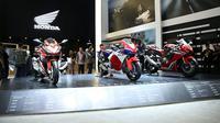 Booth sepeda motor Honda di IIMS 2017. (AHM)