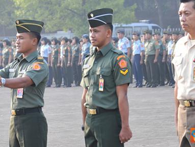 Citizen6, Cilangkap: Upacara diikuti oleh prajurit TNI maupun PNS TNI yang bertugas di lingkungan Mabes TNI Cilangkap, berlangsung dengan tertib dan khidmat. (Pengirim: Badarudin Bakri)