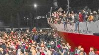 Arus mudik  jelang Pemilu 2019 di Kendari serasa lebaran (Liputan6.com/ Ahmad Akbar Fua)