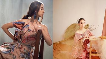 6 Pesona Artis dalam Balutan Kain Nusantara, Cantik Alami