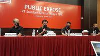 Paparan publik PT Sumber Alfaria Trijaya Tbk (AMRT), Kamis, 6 Mei 2021 (Dok: Pramita Tristiawati/Liputan6.com)