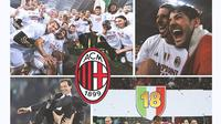 Kolase - AC Milan Juara Serie A Musim 2010-2011 (Bola.com/Adreanus Titus)