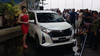 PT Toyota Astra Motor hari ini resmi meluncurkan Toyota Calya facelift. (Amal / Liputan6.com)