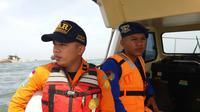 Pencarian di Lokasi Hilangnya 3 Nelayan Santolo Garut (Liputan6.com/Jayadi Supriadin)