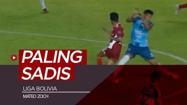 Berita video momen tekel yang mungkin paling sadis terjadi di dunia sepak bola musim ini terjadi di Liga Bolivia pada pertandingan Blooming melawan Royal Pari dengan korbannya, Mateo Zoch.