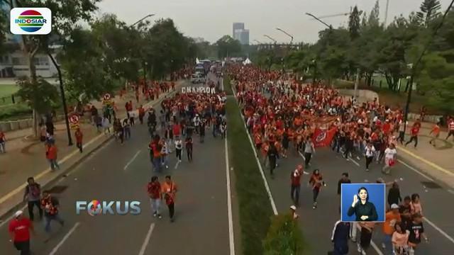 Polantas akan rekayasa lalu lintas saat pawai kemenangan Persija berlangsung di Gelora Bung Karno dan Balai Kota.