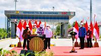 Presiden Jokowi saat meresmikan jalan Tol Sigli-Banda Aceh. (Dok: Setpres)
