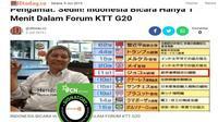 [Cek Fakta] Gambar Tangkapan Layar Berita Tentang Jokowi di KTT G20