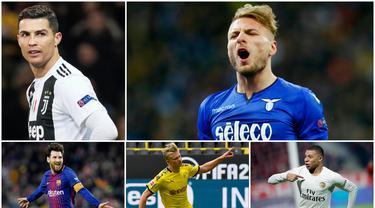 Berikut ini para kandidat peraih penghargaan sepatu emas Eropa. Striker Lazio, Ciro Immobile, di posisi pertama dengan koleksi 27 Gol.
