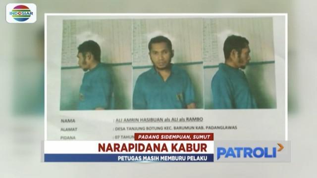 Napi narkoba kabur dari Lapas Padang Sidempuan dengan melompat tembok setinggi 7 meter.