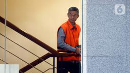 Mantan Komisioner KPU Wahyu Setiawan bersiap menjalani pemeriksaan lanjutan di Gedung KPK,  Jakarta, Rabu (12/2/2020). Wahyu Setiawan diperiksa terkait kasus dugaan suap pengurusan pergantian antarwaktu (PAW) anggota DPR. (merdeka.com/Dwi Narwoko)