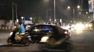 Jalan Khatib Sulaiman menjelang pergantian tahun 2020 ke 2021. (Liputah6.com/ Novia Harlina)