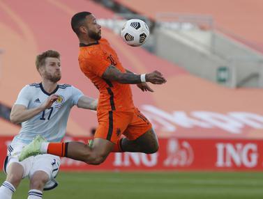 Foto: Memphis Depay, Selamatkan Belanda dari Kekalahan Melawan Skotlandia pada Uji Coba Menjelang Euro 2020 (Euro 2021)