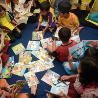 Tujuan dibentuknya Taman Baca Inovator cuma satu, ingin membangun kebiasaan membaca kepada anak-anak di seluruh Indonesia. (dok. Taman Baca Inovator)