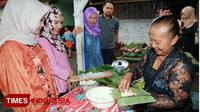 Wisatawan antre membeli jajanan tradisional di Desa Kemiren.(FOTO: Humas Pemkab Banyuwangi for TIMES Indonesia)
