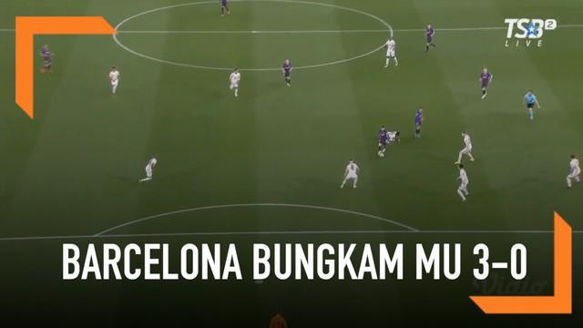 Barcelona melaju ke semifinal Liga Champions musim ini usai sukses membungkam Manchester United 3-0 dalam laga leg kedua perempat final yang digelar di Camp Nou.