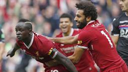 1. Sadio Mane (Southampton dan Liverpool) - 75 Gol. (AP/Martin Rickett)