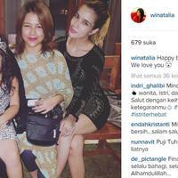 Anji, Wina Natalia, dan Sheila Marcia Joseph (Instagram/@winanatalia)
